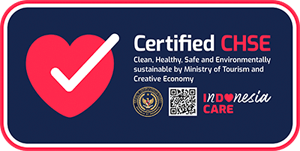 Clean, Healthy, Safe, and Environmentaly sustainable certification by Ministry of Tourism and Creative Economy