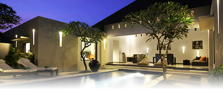 A night sky from private pool at two bedroom villa