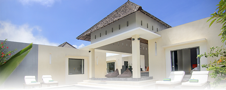A stylish appointed villa with modern minimalist design in Bali