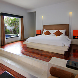 A huge master bedroom in private villa